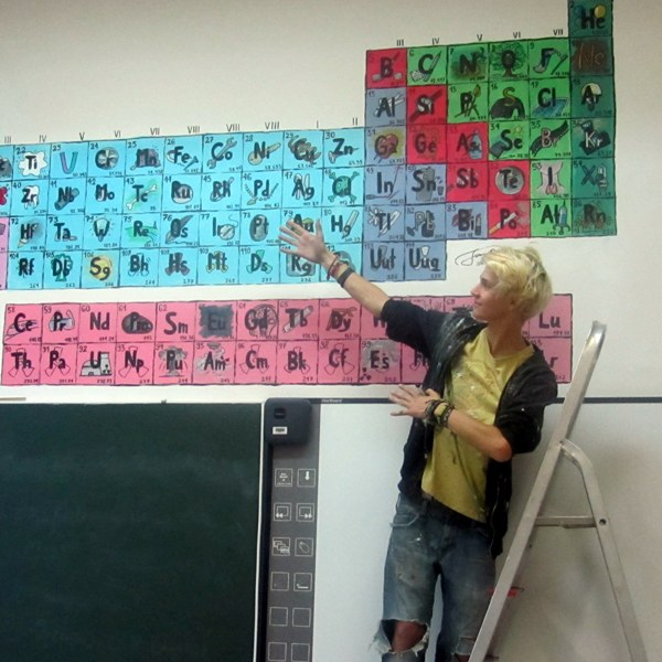 Nov periodni sistem v kemijski učilnici