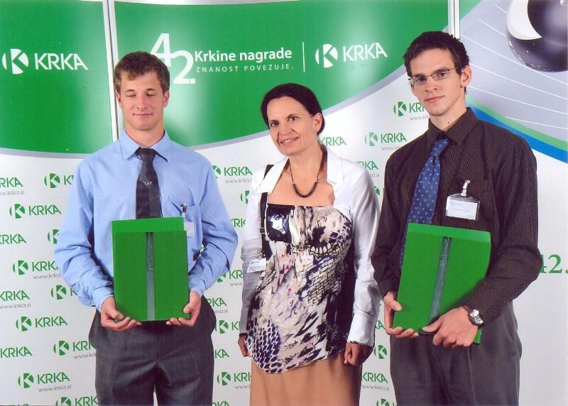 Krkina nagrada in priznanje za raziskovalni nalogi