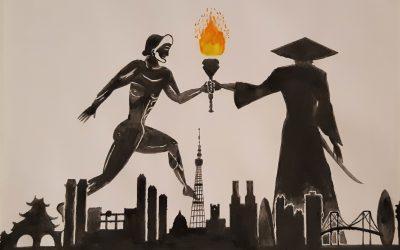 Izjemen uspeh naših dijakov na likovnem natečaju Olimpijski plakat Tokio